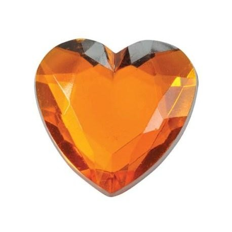 Grands Coeurs en Diamant orange de Decoration