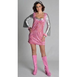 Déguisement Disco Robe Glitter Chic Femme 70's-80's