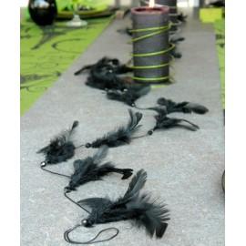 Guirlande Plumes avec Perles 1 Mètre en 8 couleurs