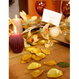 Petales or avec feuilles les 100
