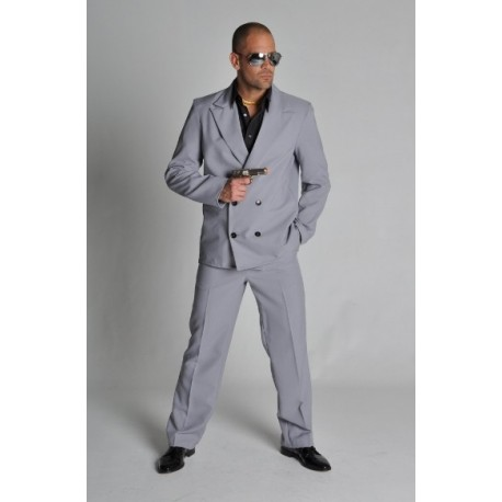 Déguisement Miami Vice Gris homme (2 flics à Miami) luxe