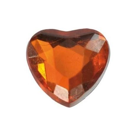 Petits coeurs en diamant orange de decoration