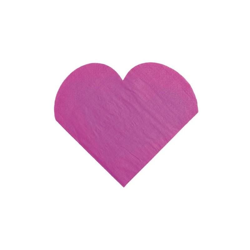 serviettes de table coeur prune les 20 serviette coeur en papier. Black Bedroom Furniture Sets. Home Design Ideas