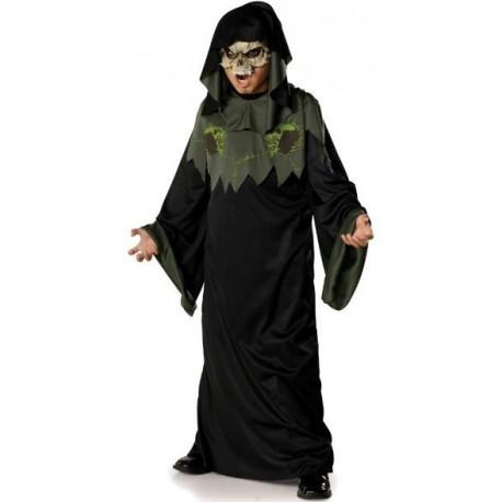 Déguisement Enfant Horror Robe avec Demi-Masque