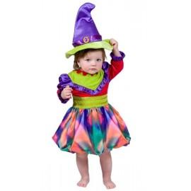 Déguisement sorcière multicouleur enfant fille et bébé