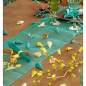 Chemin de table sinamay a paillettes en sinamay couleur