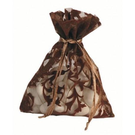 Sachet Organdi Arabesque Chocolat