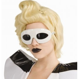 Lunettes Lady Gaga blanches sous licence Lady Gaga