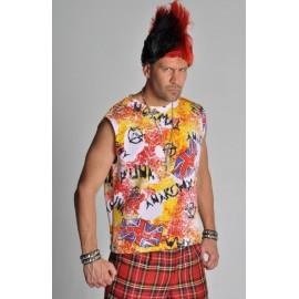Déguisement Tee Shirt Punk Imprimé Deluxe Homme