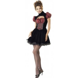Déguisement French Maid Gothique Deluxe Femme