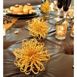 Boule Festive Scintillante 28 cm Sur Tige