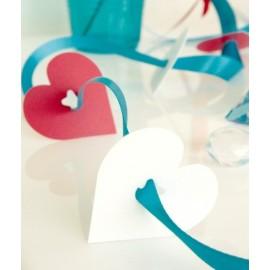 Clips Déco Coeur Les 24 Attaches Coeur 5 cm