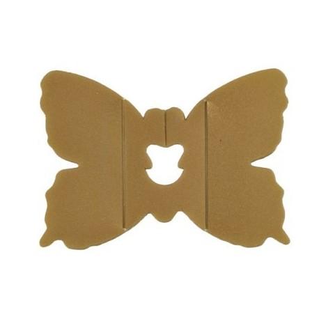 Clips Deco Papillon Or