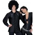 Chemise disco homme noire 70's Déguisement disco homme