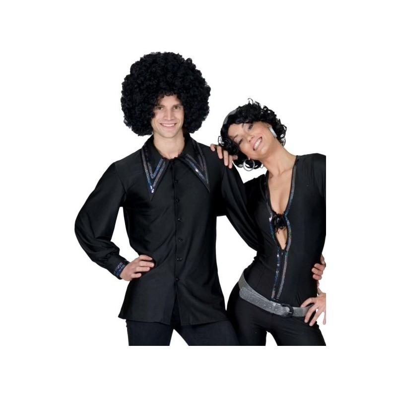 d guisement chemise disco homme noire 70 39 s d guisement. Black Bedroom Furniture Sets. Home Design Ideas