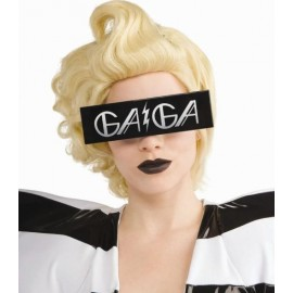Lunette lady gaga Rectangle Noir Imprime gaga