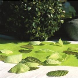 Pétales vert anis avec feuilles en tissu les 100