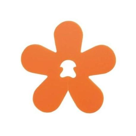 Clip Deco Fleur Orange Les 24 Attaches Fleurs