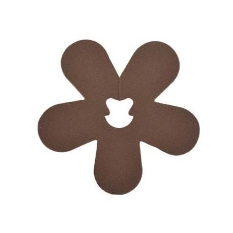 Clip Deco Fleur Chocolat Les 24 Attaches Fleurs