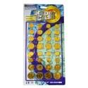 Pièces de Monnaie Or pour Jouer Enfant 64 Pièces (Dollar)