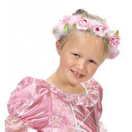 Couronne princesse enfant avec roses