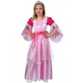 Déguisement princesse fille rose et fuchsia