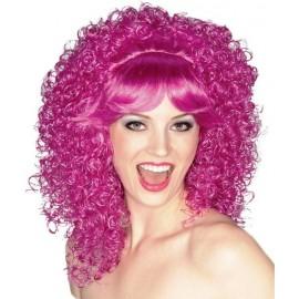 Perruque Purple Bouclée de Luxe