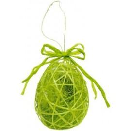Oeuf Vert Pomme en Sisal 9 cm