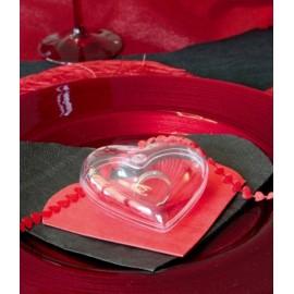 coeur transparent plexi 8 cm
