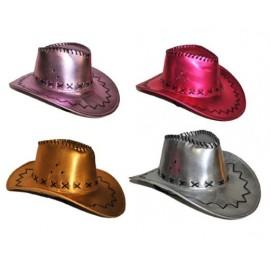Chapeau Cowboy Métallisé Adulte en 4 Couleurs
