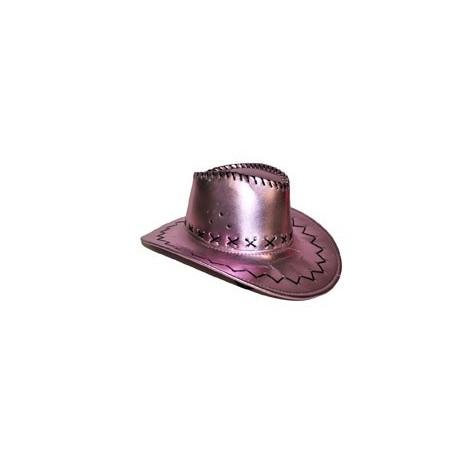 chapeau cowboy rose parme metallise