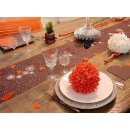 Chemin de table Fleurs intissé (2 couleurs)