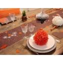 Chemin de Table Fleurs Intissé (4 couleurs)