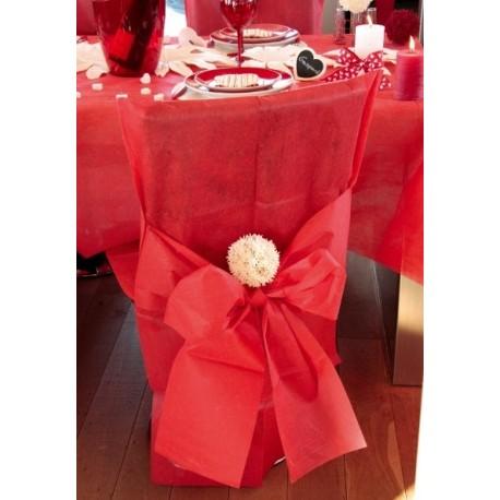 housses de chaise rouge intiss avec noeuds les 10. Black Bedroom Furniture Sets. Home Design Ideas