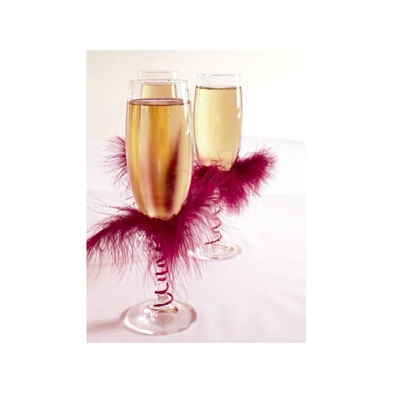 Décoration de mariage 20 plumes de décoration bordeaux
