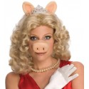 Perruque Miss Piggy The Muppets avec Tiare Oreilles Nez