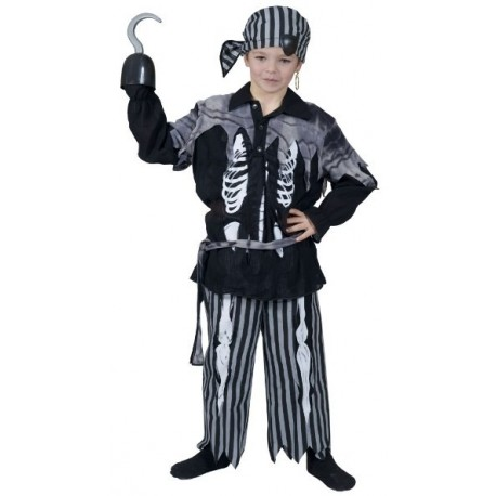 d guisement pirate squelette gar on halloween. Black Bedroom Furniture Sets. Home Design Ideas