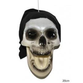 Décoration tête de mort pirate 20 cm