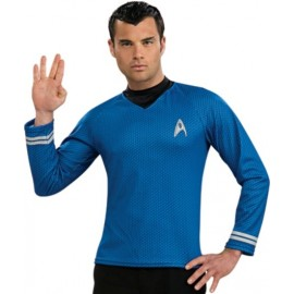 Déguisement Star Trek Spock Shirt Bleu Adulte
