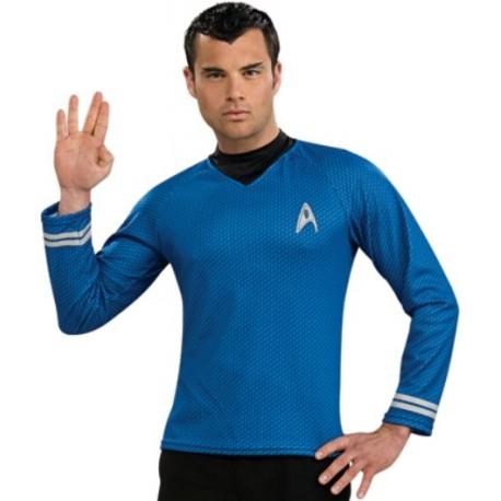 Déguisement Star Trek Spock Shirt Bleu Adulte