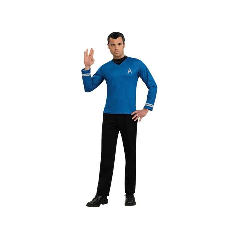 deguisement star trek spock shirt bleu adulte. Black Bedroom Furniture Sets. Home Design Ideas