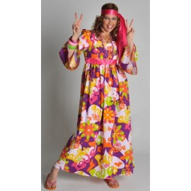Deguisement Hippie Robe Flower Of Love Femme