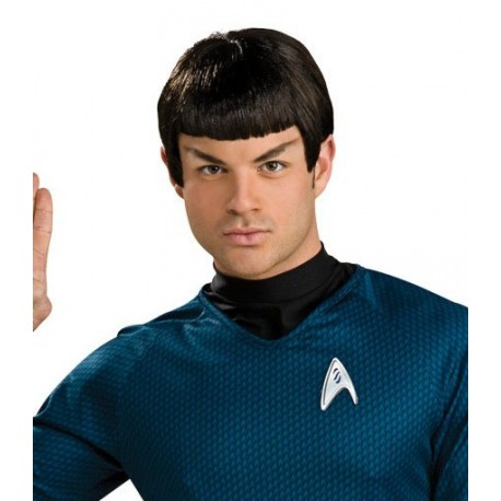 Perruque spock star trek en latex avec oreilles adulte