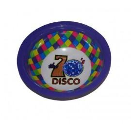 Bol Disco Violet 70's avec Motifs Disco 16.5 cm