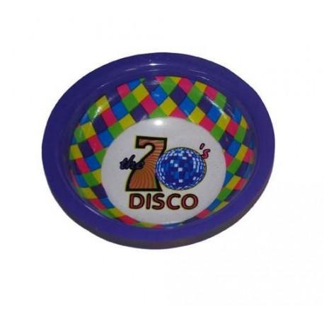 Bol disco Violet avec motifs disco table festive