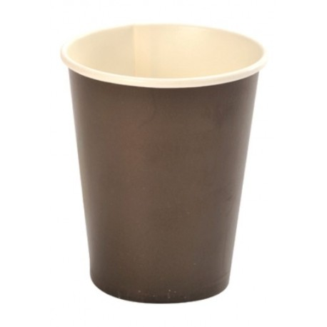 Gobelet carton chocolat uni gobelet jetable