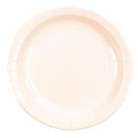 Assiettes Carton Laqué Blanc Uni 23 cm les 10