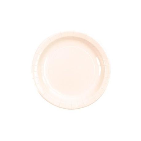Assiette carton blanche laque vaisselle jetable de fete