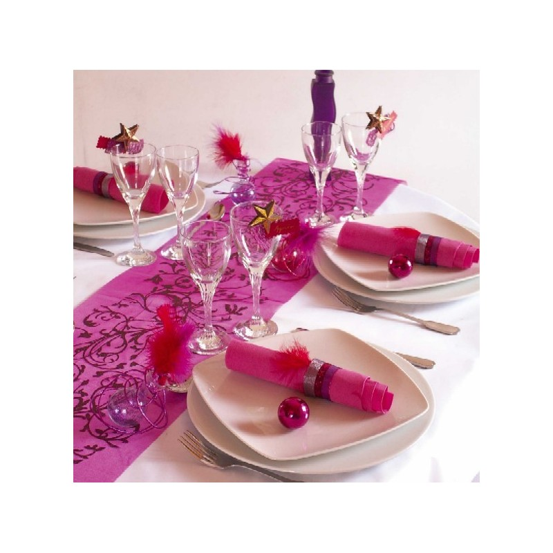 Porte nom etoiles arabesque chocolat et or pour tables for Decoration table porte nom