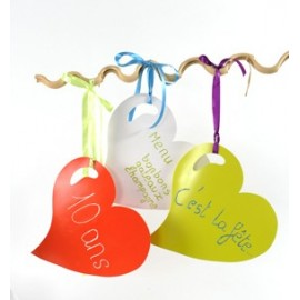 Sets de Table Coeur Brillant Couleur 38 cm les 4